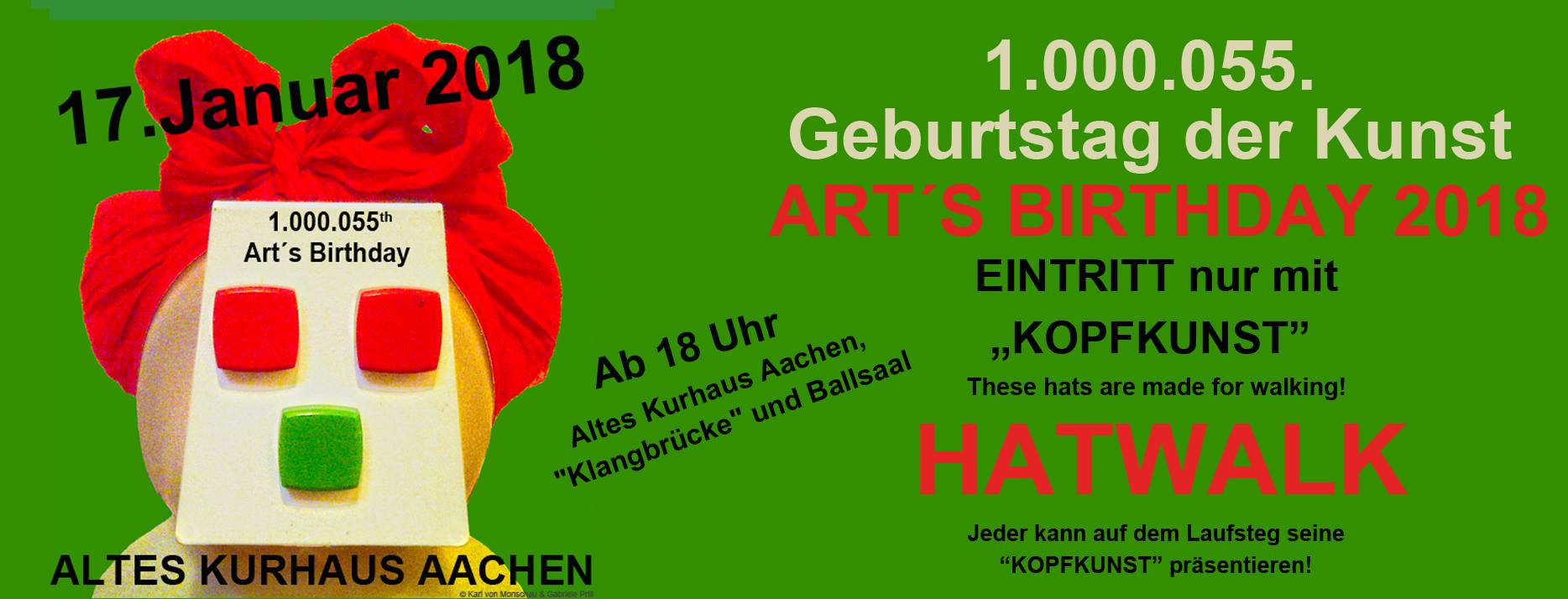 Plakat Arts Birthday 2018